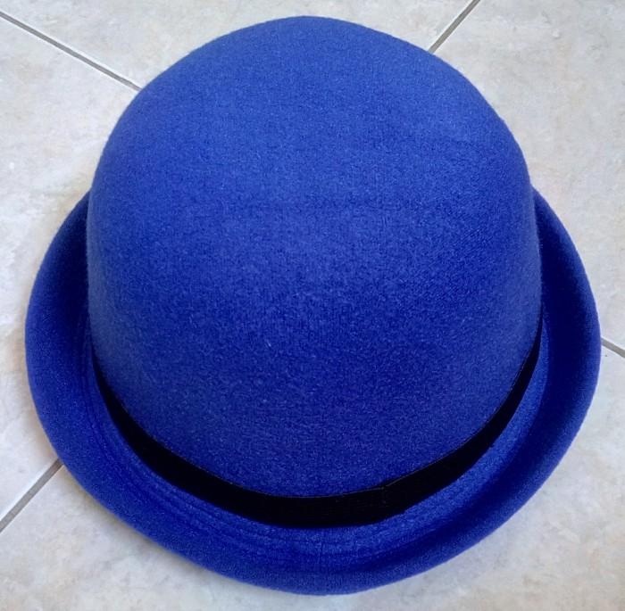 f9f03fdba53 Jual Topi Caplin Dewasa   Bowler Hat Charlie Chaplin Lokal - Biru ...