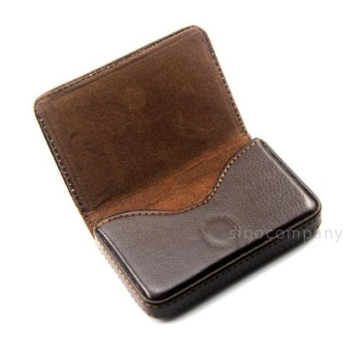 harga Brown leather business credit id card holder case walet Tokopedia.com