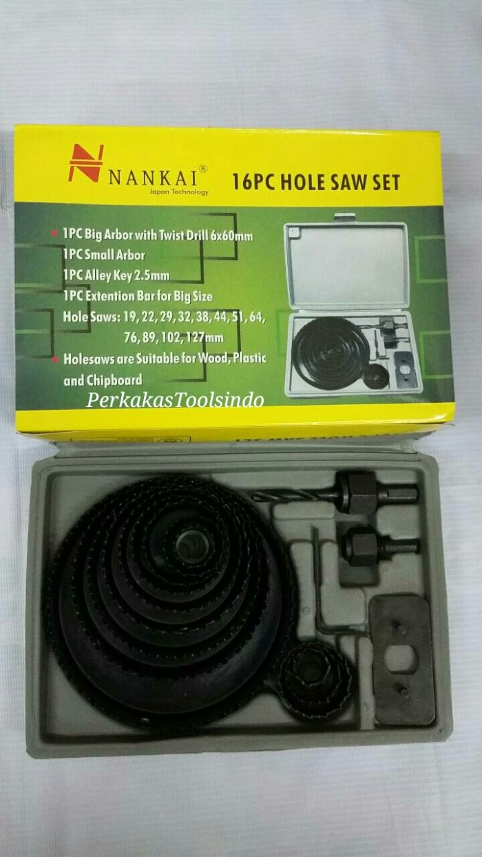 harga Hole Saw Kit Set 16pcs 19-127mm Nankai Tokopedia.com