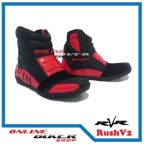 harga Sepatu motor rvr rush v2 red Tokopedia.com