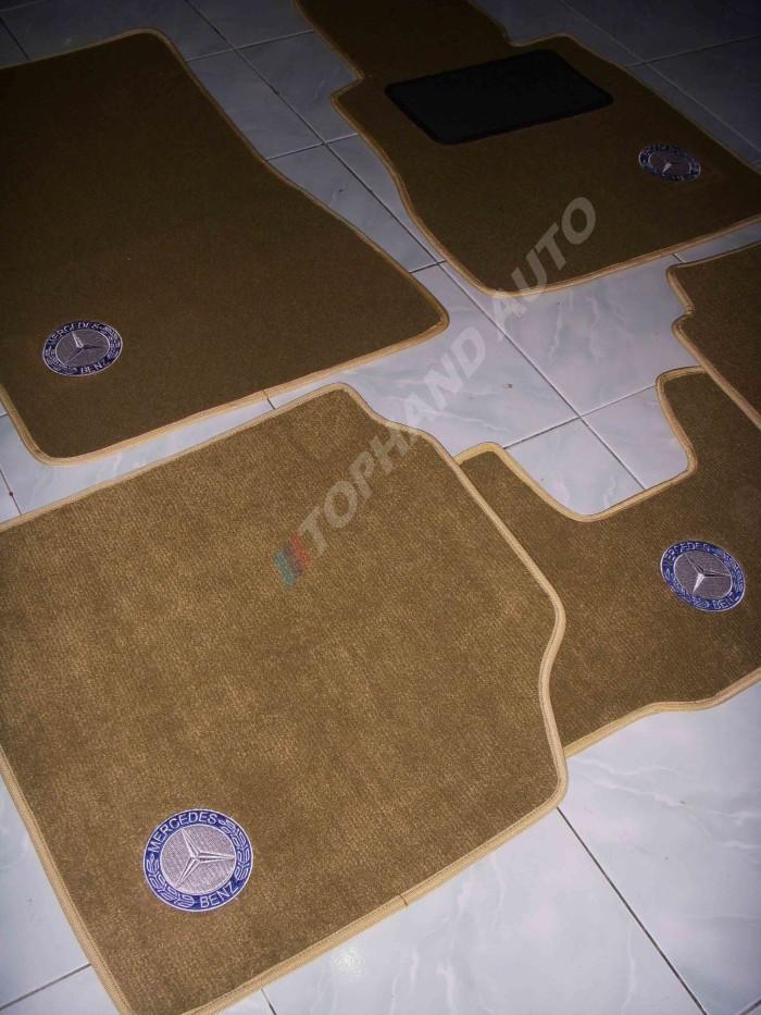 harga Karpet mobil mercy tiger coklat muda list cream Tokopedia.com