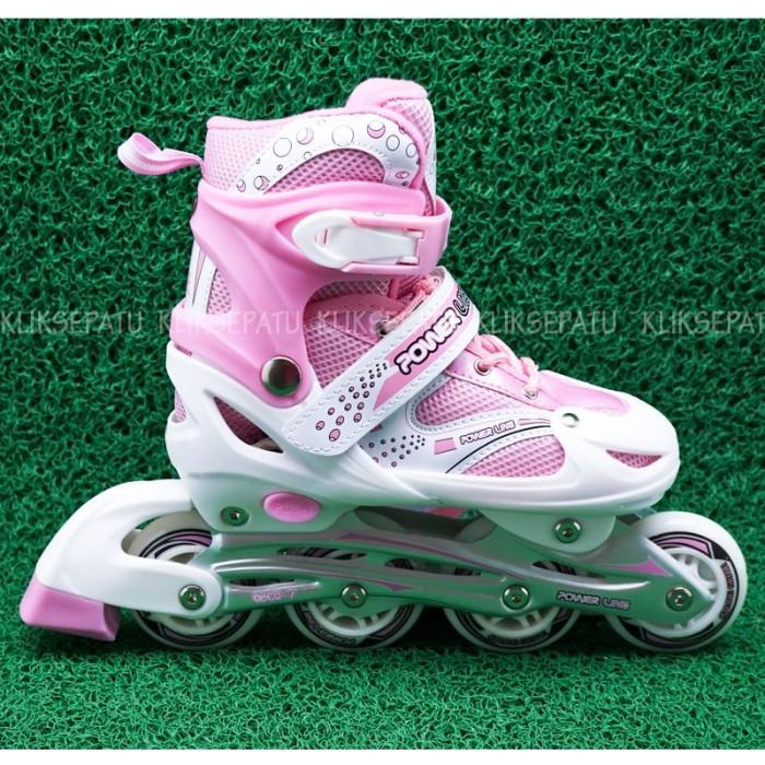 Jual Sepatu Roda Inline Skate Power Line Pink - Kliksepatu  662f082a8c