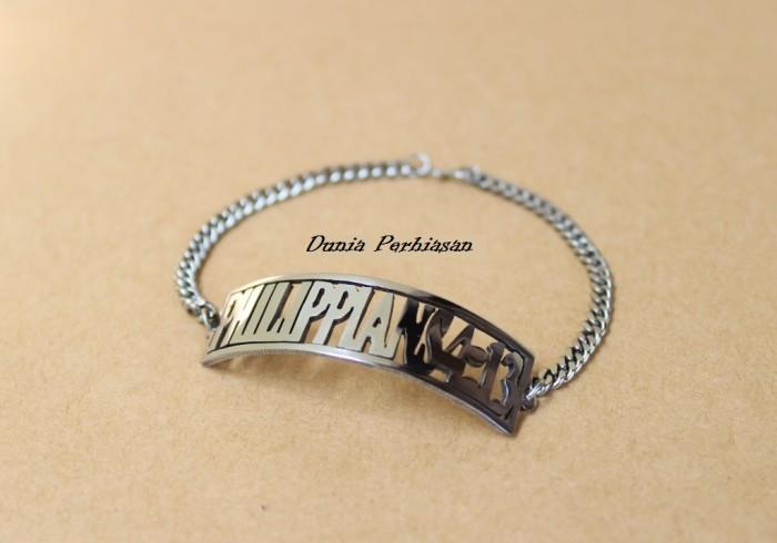 Gelang Nama Custom Monel - Perhiasan Nama Custom Couple