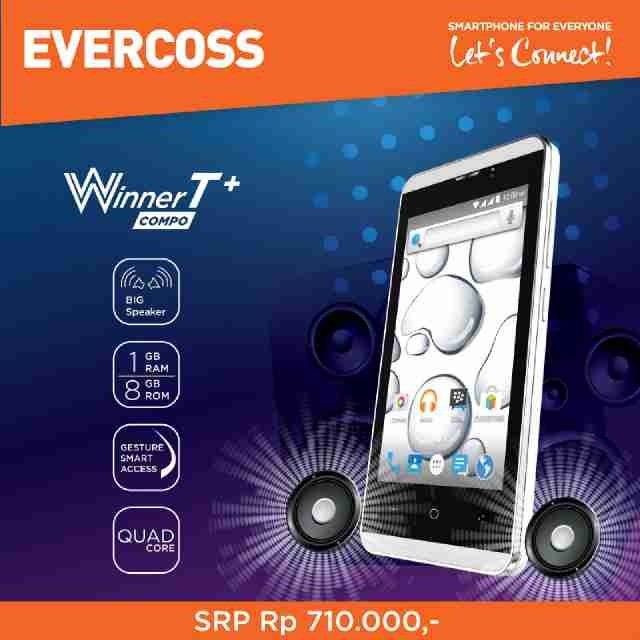harga Evercoss a74e winner t+ (8gb) ram 1gb  - garansi resmi Tokopedia.com