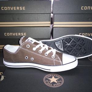 c6442eca91e1 Jual Sepatu Converse All Star Low Cut Brown White +Box Converse ...