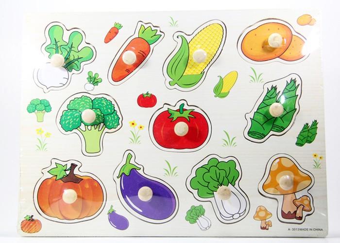 Foto Produk Puzzle Kayu Pin Knob Knop Sayuran Mainan Edukasi Anak PP-014 dari Kid Smart
