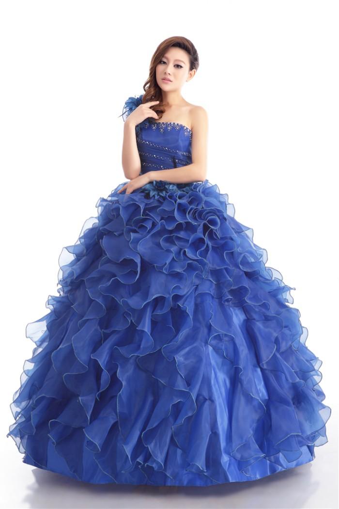 Jual Wedding Dress Gaun Pengantin Import Warna Biru Model Terbaru