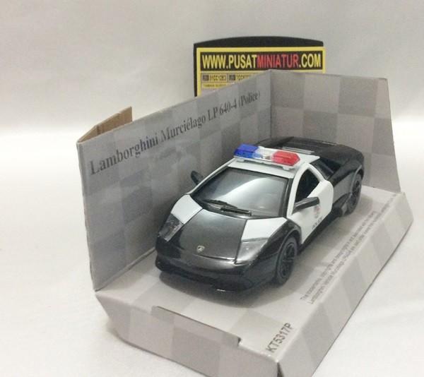 Jual Lamborghini Murcielago Police Skala 1 36 Kinsmart Diecast