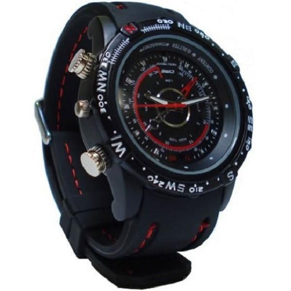 Классические наручные часы с камерой и диктофоном.