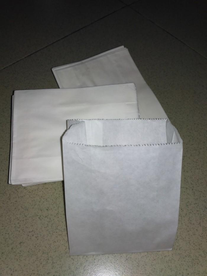 paperbag putih polos kecil utk donat / kentang goreng