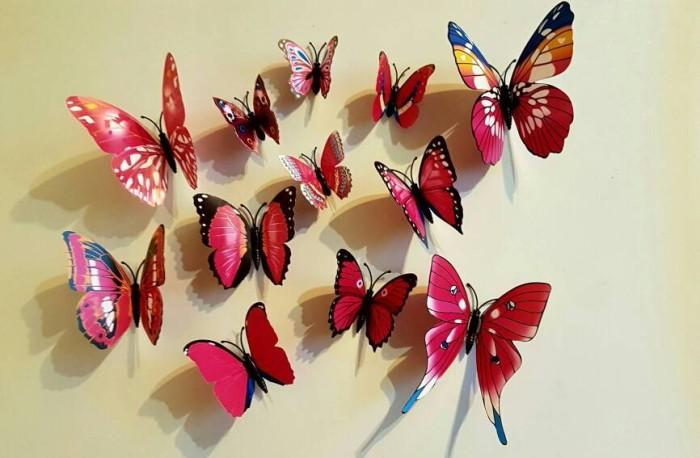 harga Hiasan 3d butterfly 1 set isi 12 ( wall sticker wallpaper kupu kupu ) Tokopedia.com