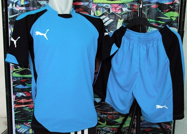 Jual Rp 45.000 lusin setelan jersey kaos futsal puma Turqoise ... 828fe4a3a6
