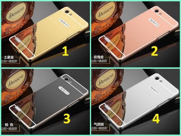 Oppo Neo 7 A33, Bumper Slide Mirror Metal Case