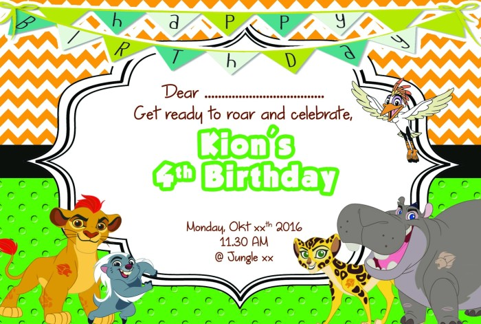Jual kartu undangan ulang tahun invitation card lion guard 01 kartu undangan ulang tahun invitation card lion guard 01 stopboris Images