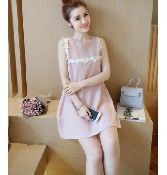 Jual Baju Casual Wanita Fashion Pink Jenis Dress Simple Kota Batam