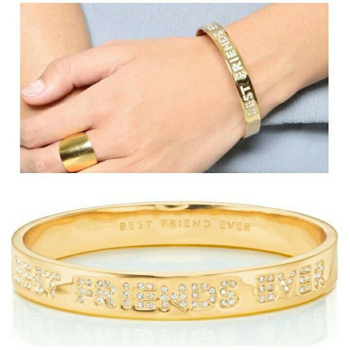 Kate Spade Best Friend Ever Idiom Bangle Gelang Gold