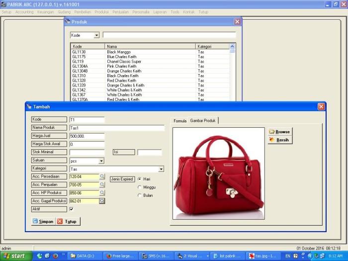 harga Aplikasi / software pabrik tas bisa custom Tokopedia.com