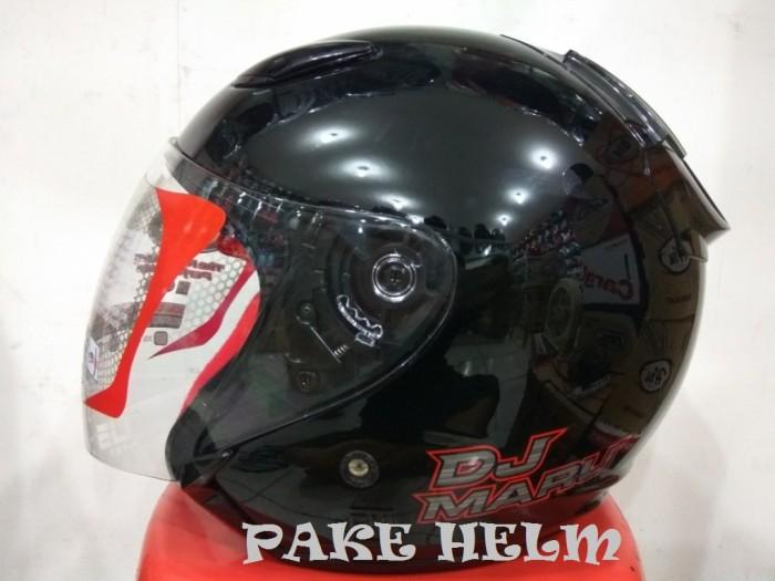 harga Helm kyt dj maru solid black hitam glossy djmaru Tokopedia.com
