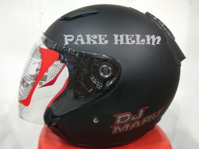 harga Helm kyt dj maru solid black doff hitam doff djmaru Tokopedia.com