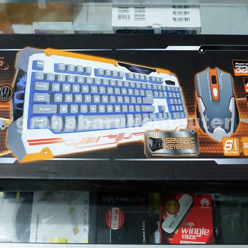 33adb152f5e Dragonwar sencaic white combo gaming keyboard mouse putih harga ...