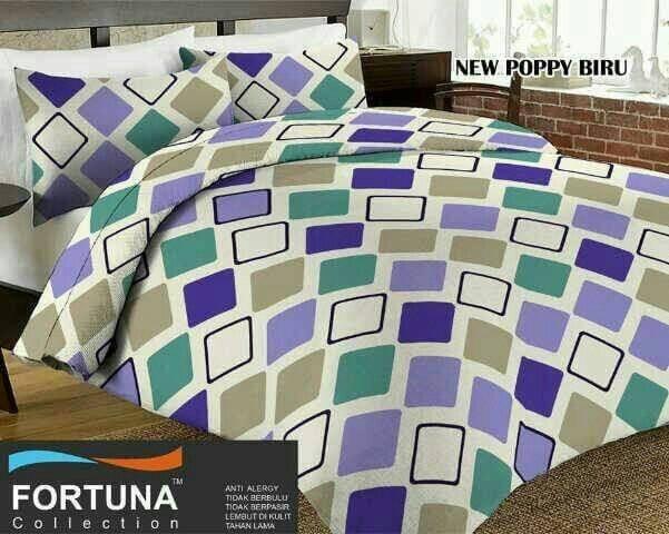 harga Sprei katun fortuna new poppy biru ukuran 180x200 Tokopedia.com
