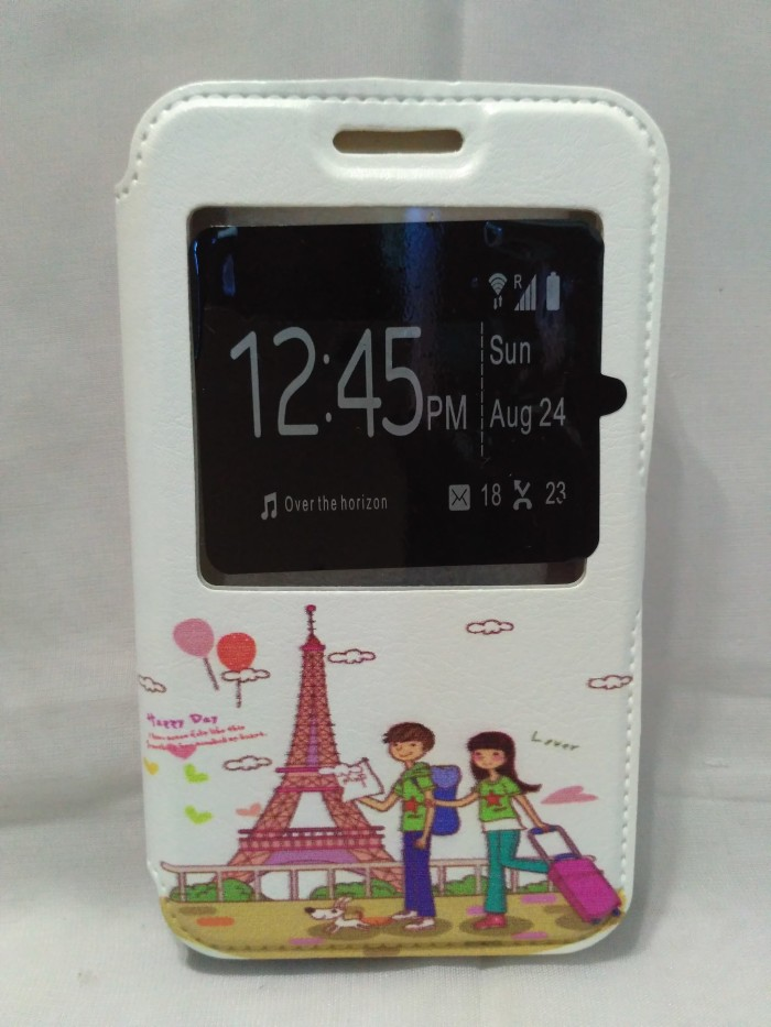 harga Flip cover universal 3  putih karakter sarung hp smart case Tokopedia.com