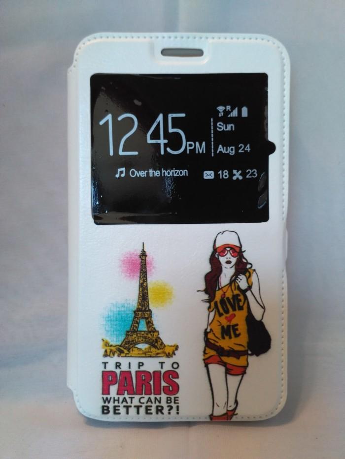 harga Flip cover universal 5 ~5,5  smartcase putih karakter sarung hp Tokopedia.com