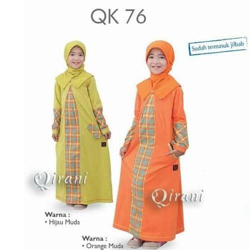 jual baju muslim anak gamis murah qirani kids qk 76