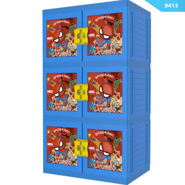 harga Lemari plastik/lemari container/lemari pakaian spiderman 3d 3 susun Tokopedia.com