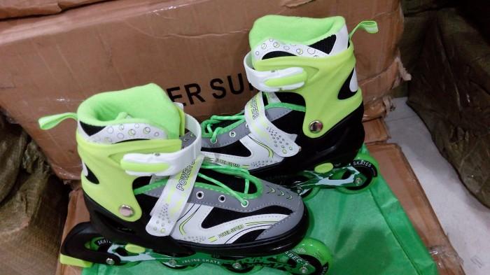 harga Roller blade inline skate sepatu roda hijau stabilo anak Tokopedia.com