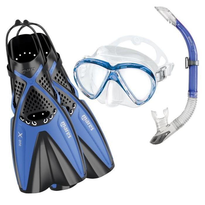 harga Alat selam mares paket fin open, kacamata silicon, snorkel, tas Tokopedia.com