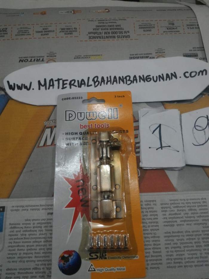 Foto Produk Kunci Pintu Grendel Press 3 Inch Duwell Pengunci Pintu dari Toko Citra Bangunan