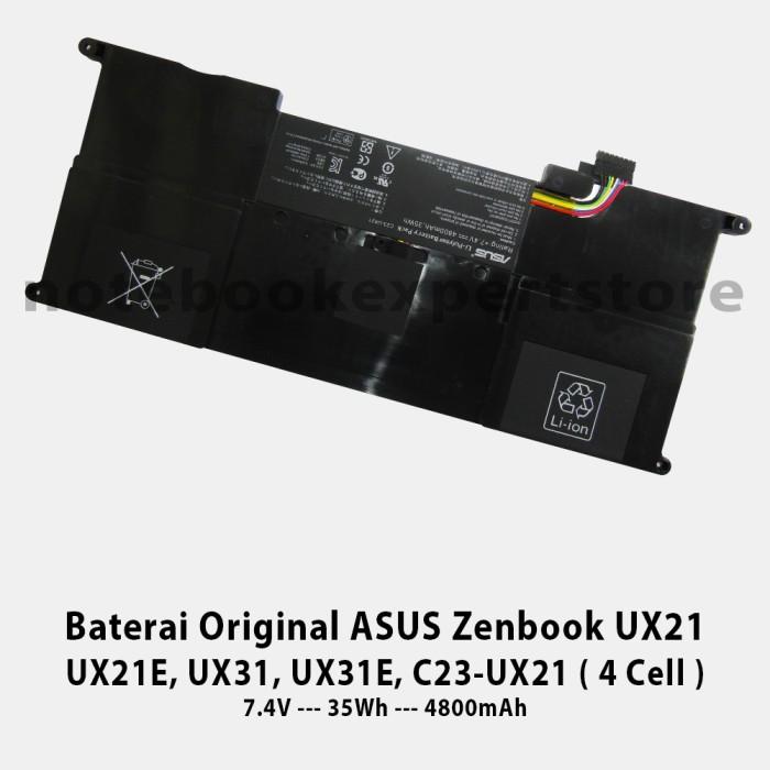 harga Baterai original asus zenbook ux21 ux21e ux31 ux31e c23-ux21 4 cell Tokopedia.com