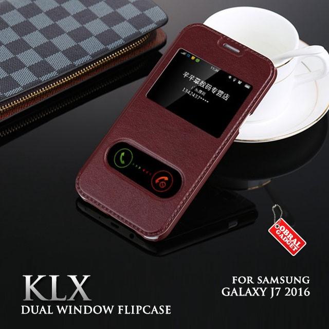 harga Samsung galaxy j7 2016 klx leather flip case flipcase cover flipcover Tokopedia.com