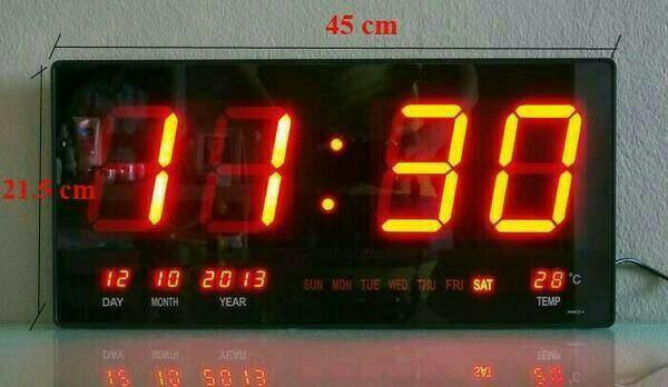 Foto Produk Jam Dinding Digital Led Menampilkan : - Jam + Menit + Detik - Tanggal dari zahwaherbal