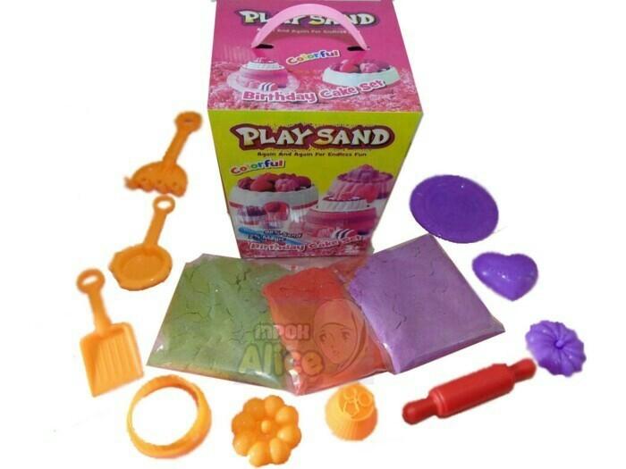harga Mainan playsand/pasir ajaib birthday cake set Tokopedia.com