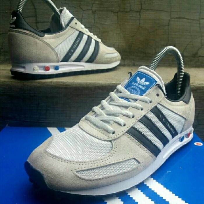 Jual Size 38. Sepatu Running adidas La Trainer Original Cream Black Kab. Karawang UPAYFAN ORIGINAL SHOES   Tokopedia