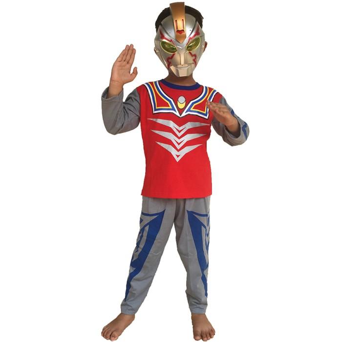 Baju anak kostum topeng superhero ultaman lengkap atas bawah+topeng