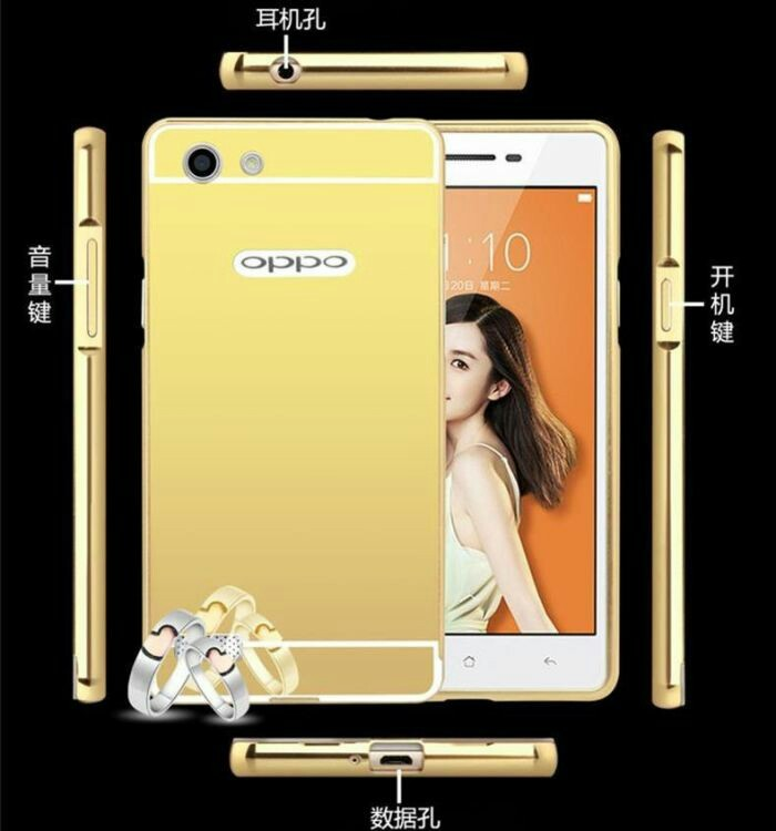Luxury Bumper Slide Mirror Alumunium Case Oppo Neo 7 / A33 | Backcase