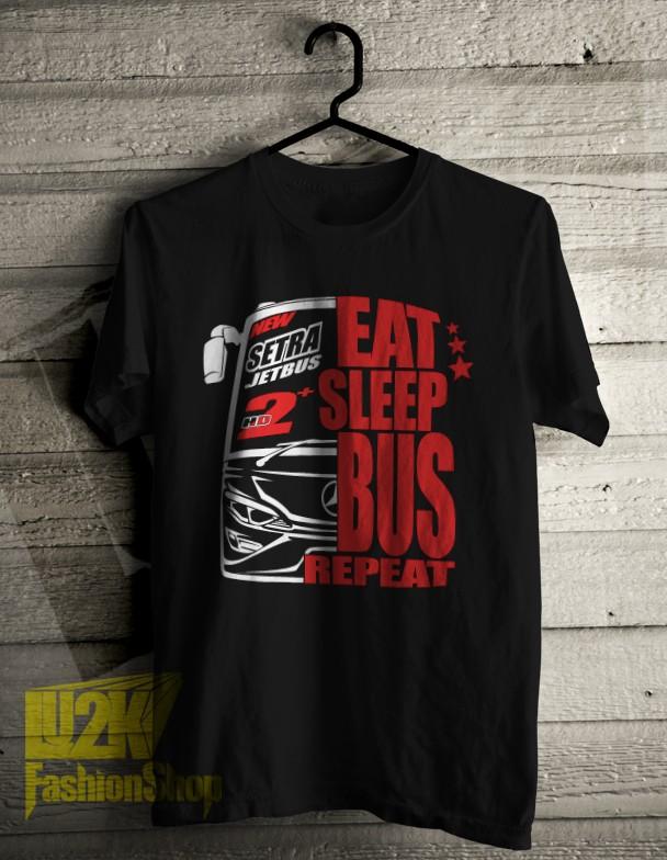 harga Kaos eat sleep bus repeat bis mania community jetbus new setra l2k 759 Tokopedia.com