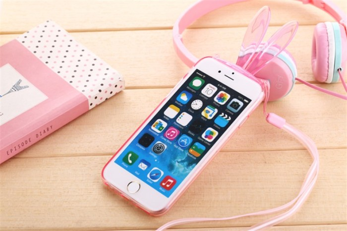 Casing RABBIT TRANSPARAN iPhone 5 5s SE Jelly slim softcase silicone