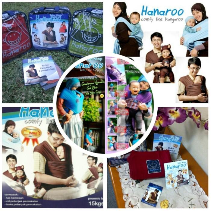 Jual Baby Gift Set Gendongan Bayi Baby Wrap Hanaroo Ori Free Cd