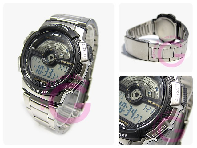 JAM TANGAN PRIA CASIO DIGITAL STAINLESS AE-1100WD-1AVDF ORIGINAL