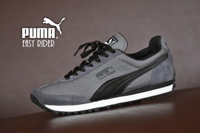 Sepatu Sport Puma Easy Rider Grade Ori Abu-Abu Hitam  kets casual pria d11637e17f
