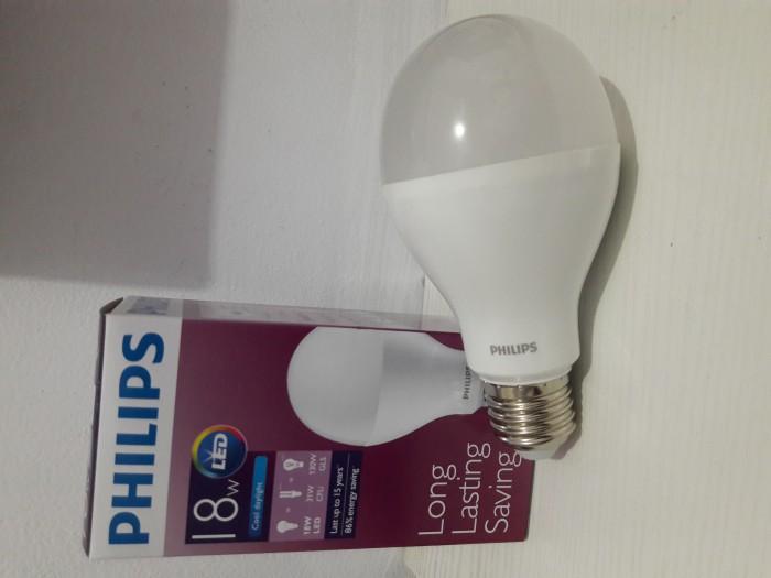 lampu LED philips 18 watt bohlam 18w / philips putih LED bulb 18 watt