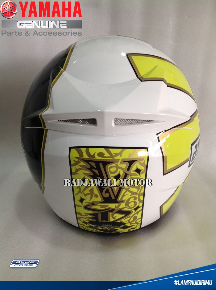 Helm AGV ROSSI GOTHIC 46 WHITE (OFFICIAL) ASLI YAMAHA 3
