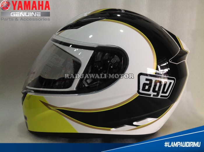 Helm AGV ROSSI GOTHIC 46 WHITE (OFFICIAL) ASLI YAMAHA 1