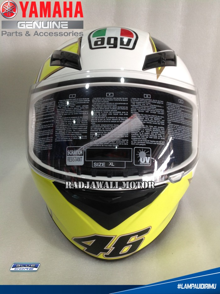 Helm AGV ROSSI GOTHIC 46 WHITE (OFFICIAL) ASLI YAMAHA 2