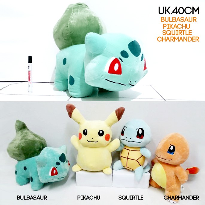 ... harga Boneka pokemon 40cm impor bulbasaur pikachu squirtle charmender  40cm Tokopedia.com 68965b5ba9