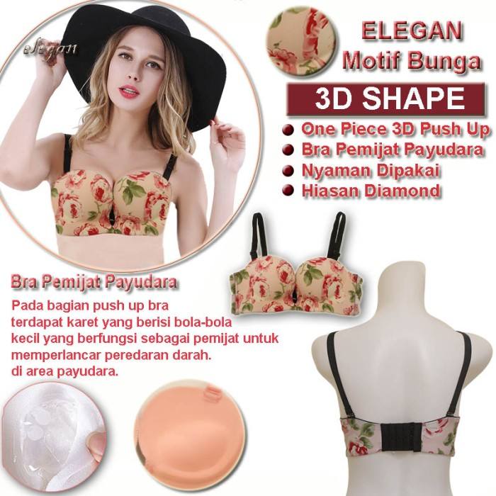 89f6f2de845d1 Jual EELIC Bra Elegan 01 Bunga Peach